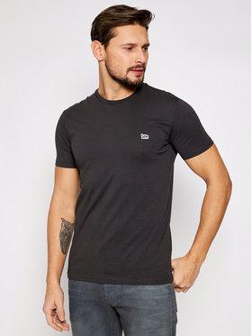 Lee Lee T-Shirt SS Patch Logo Tee L60UFQON Czarny Regular Fit