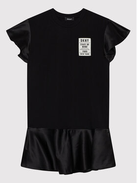 DKNY DKNY Každodenné šaty D32800 D Čierna Regular Fit