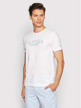 Tommy Hilfiger Tommy Hilfiger T-Shirt Palm Print MW0MW19361 Biały Regular Fit