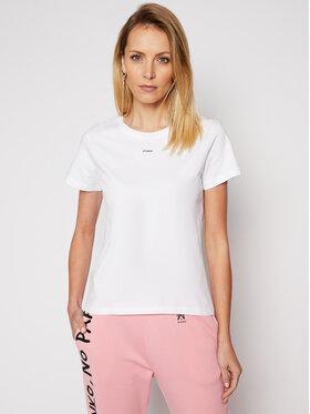 Pinko Pinko T-Shirt Basico PE 21 BLK01 1G1649 Y4LX Biały Regular Fit