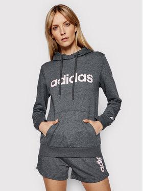 adidas adidas Džemperis W Lin Ft Hd GL0639 Pilka Regular Fit