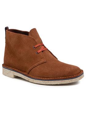 Clarks Clarks Šnurovacia obuv Bushacre 3 261578817 Hnedá