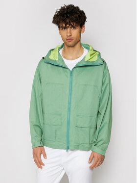 Converse Converse Átmeneti kabát Double Pocket 10021097-A03 Zöld Regular Fit