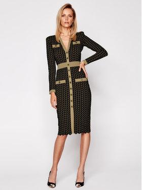 Elisabetta Franchi Elisabetta Franchi Φόρεμα υφασμάτινο AM-31S-06E2-V489 Μαύρο Slim Fit