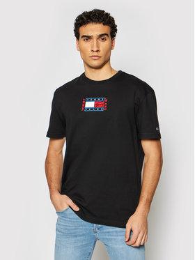 Tommy Jeans Tommy Jeans T-shirt Tjm Timeless Flag Tee DM0DM10621 Crna Regular Fit