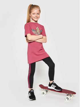 adidas adidas Комплект тишърт и клин Graphic Print Tee Dress GN2214 Цветен Slim Fit