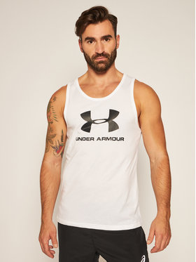 Under Armour Under Armour Tank top Ua Sportstyle Logo 1329589 Alb Loose Fit