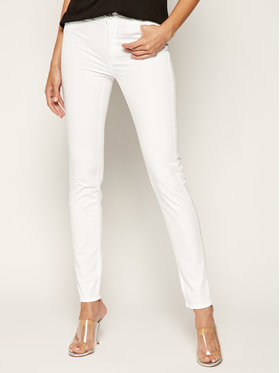 Trussardi Jeans Trussardi Jeans Medžiaginės kelnės Gabardine 56J00002 Balta Skinny Fit