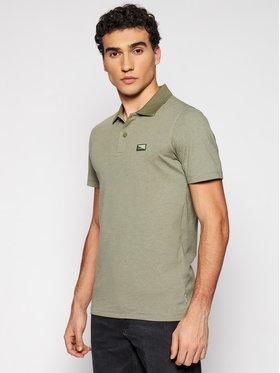 Jack&Jones Jack&Jones Тениска с яка и копчета Schultz Turk 12185064 Зелен Slim Fit