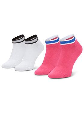 Calvin Klein Calvin Klein Moteriškų trumpų kojinių komplektas (2 poros) 100001900 Balta