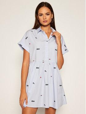 Tommy Jeans Tommy Jeans Košilové šaty Sritter Drop DW0DW08469 Modrá Regular Fit
