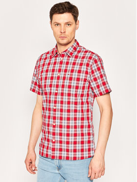 Tommy Jeans Tommy Jeans Košile Shortsleeve Check DM0DM07914 Červená Regular Fit