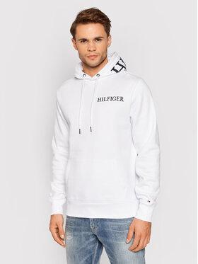 Tommy Hilfiger Tommy Hilfiger Bluza Hilfiger Logo Hoody MW0MW21424 Biały Regular Fit