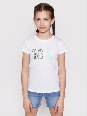 Calvin Klein Jeans Calvin Klein Jeans T-shirt Hybrid Logo IG0IG00888 Bijela Slim Fit