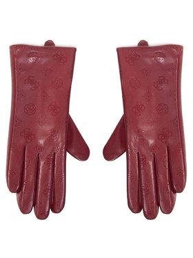 Guess Guess Damenhandschuhe Not Coordinated Gloves AW8537 POL02 Dunkelrot