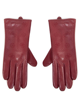 Guess Guess Rękawiczki Damskie Not Coordinated Gloves AW8537 POL02 Bordowy
