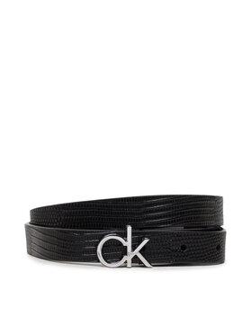 Calvin Klein Calvin Klein Dámsky opasok Re-Lock Belt 20mm Lizard K60K608615 Čierna