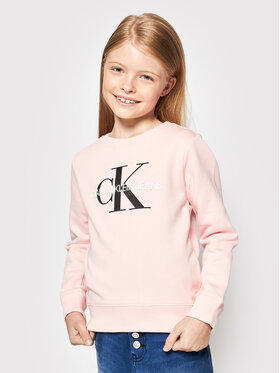 Calvin Klein Calvin Klein Džemperis Monogram Logo IU0IU00069 Rožinė Regular Fit