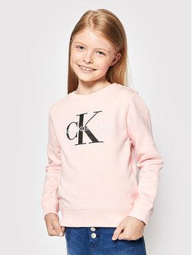 Calvin Klein Calvin Klein Mikina Monogram Logo IU0IU00069 Ružová Regular Fit