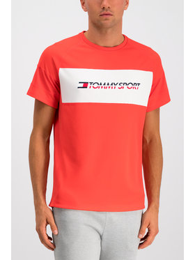 Tommy Sport Tommy Sport T-shirt Mesh Sleeve S20S200199 Rosso Regular Fit