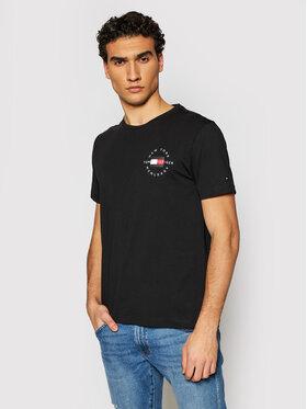 Tommy Hilfiger Tommy Hilfiger T-Shirt Circle MW0MW17680 Černá Regular Fit