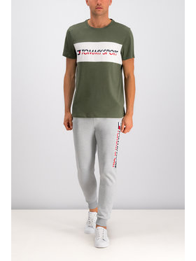 Tommy Sport Tommy Sport T-shirt Logo S20S200082 Zelena Regular Fit