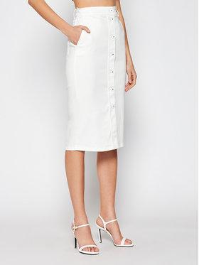 Marella Marella Jeans suknja Dindi 31010115 Bijela Slim Fit