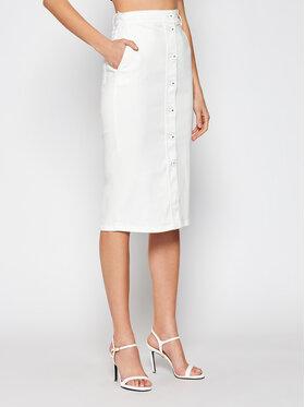 Marella Marella Jupe en jean Dindi 31010115 Blanc Slim Fit