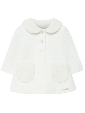 Mayoral Mayoral Cappotto 2426 Bianco Regular Fit