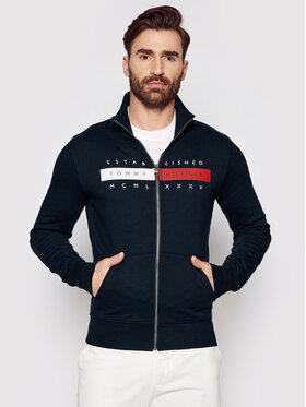 Tommy Hilfiger Tommy Hilfiger Bluză Global Zip Through MW0MW18367 Bleumarin Regular Fit