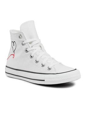 Converse Converse Sneakers aus Stoff Ctas Hi Vintage Wh 171159C Weiß