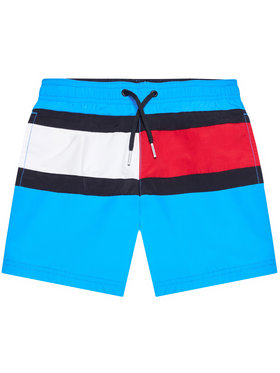 Tommy Hilfiger Tommy Hilfiger Szorty kąpielowe Medium UB0UB00355 Niebieski Regular Fit