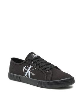 Calvin Klein Jeans Calvin Klein Jeans Гуменки Vulcanized Sneaker Laceup Co YM0YM00254 Черен