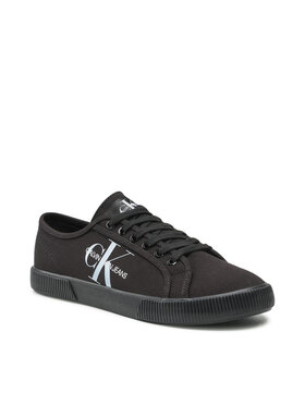 Calvin Klein Jeans Calvin Klein Jeans Sneakers aus Stoff Vulcanized Sneaker Laceup Co YM0YM00254 Schwarz