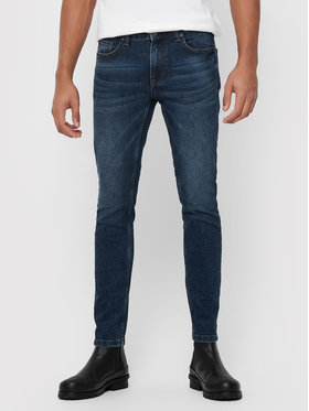 Only & Sons ONLY & SONS Jeansy Warp Life 22015148 Tmavomodrá Skinny Fit
