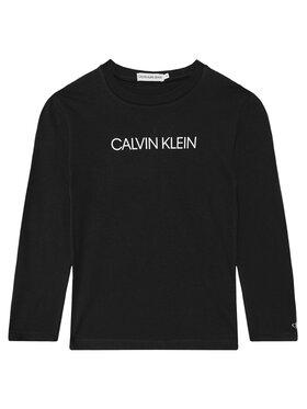 Calvin Klein Jeans Calvin Klein Jeans Блуза Institutional IB0IB00599 Черен Regular Fit