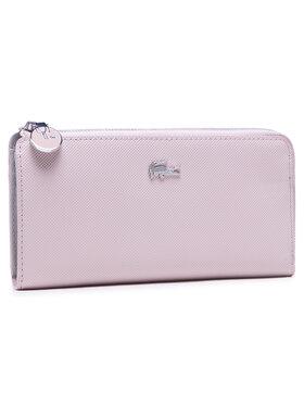 Lacoste Lacoste Голям дамски портфейл Slim Zip Wallet NF2780DC Розов