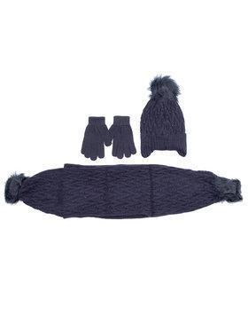 Mayoral Mayoral Rinkinys kepurė, šalikas, pirštinės 10701 Tamsiai mėlyna