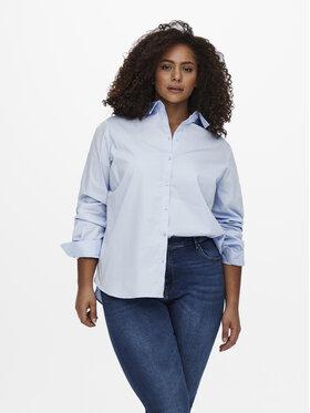 ONLY Carmakoma ONLY Carmakoma Camicia Catinka 15237816 Blu Regular Fit