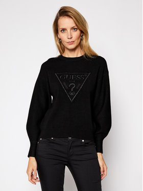 Guess Guess Maglione Lily Rn Swtr W1RR0H Z26I0 Nero Comfort Fit