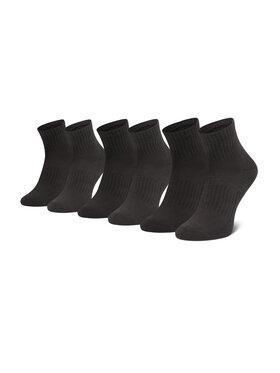 Under Armour Under Armour Súprava 3 párov kotníkových ponožiek unisex Core Qtr 3pk 1358344 Čierna