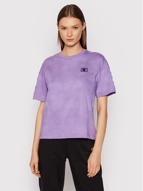 Champion Champion T-Shirt Logo 114761 Fioletowy Custom Fit