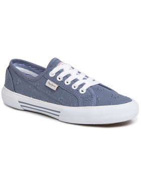 Pepe Jeans Pepe Jeans Sneakers aus Stoff Aberlady Angry-20 PLS30948 Dunkelblau
