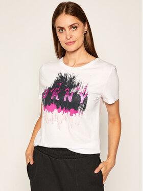 DKNY DKNY T-shirt P0CHQCNA Blanc Regular Fit