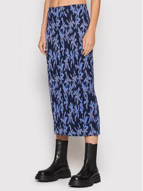 Desigual Desigual Midi sukňa Shirley 21WWFF03 Tmavomodrá Regular Fit