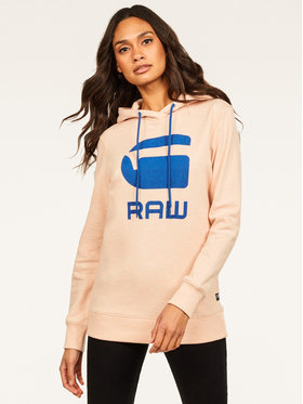 G-Star Raw G-Star Raw Pulóver Boyfriend Diamond Line Graphic Hooded D16236-A613-B243 Rózsaszín Loose Fit