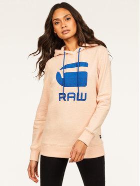 G-Star Raw G-Star Raw Sweatshirt Boyfriend Diamond Line Graphic Hooded D16236-A613-B243 Rose Loose Fit