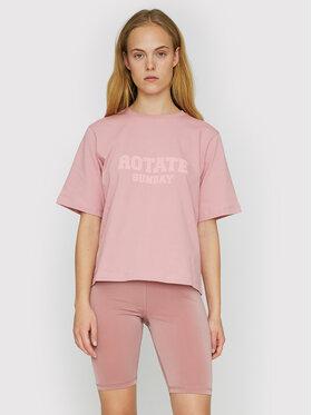 ROTATE ROTATE Marškinėliai Aster RT455 Rožinė Loose Fit