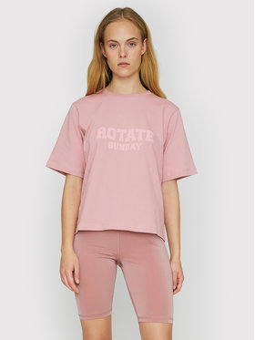 ROTATE ROTATE T-Shirt Aster RT455 Różowy Loose Fit