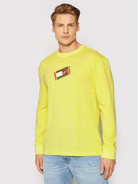 Tommy Jeans Tommy Jeans Longsleeve Tjm Small Flag Box Logo DM0DM10240 Żółty Regular Fit
